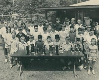 An early 1970s Hixson junior golf clinic. See story by John Shearer.