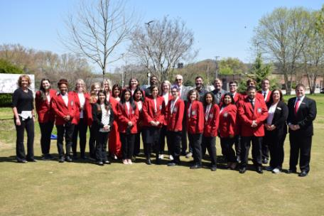 Students and faculty celebrate their winning performances following the 2021 SkillsUSA statewide competition